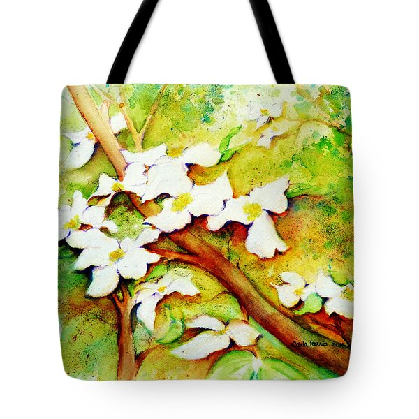 Dogwood Flowers Tote Bag by Carla Parris