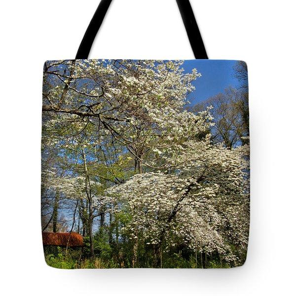 Dogwood Grove Tote Bag by Debra and Dave Vanderlaan