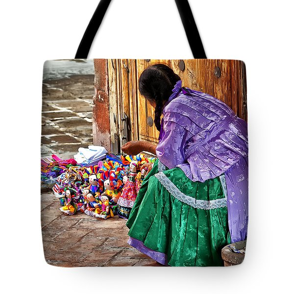 Dolls For Sale Tote Bag by Javier Barras