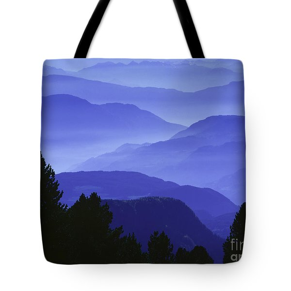 Dolomites Landscape Tote Bag by Hermann Eisenbeiss and Photo Researchers
