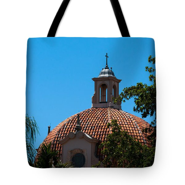 Tote Bag featuring the photograph Dome At Church Of The Little Flower by Ed Gleichman