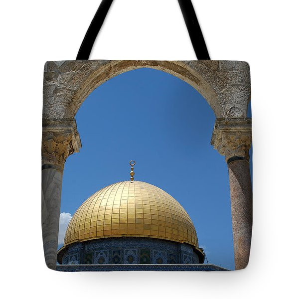 Tote Bag featuring the photograph Dome Of The Rock  by Eva Kaufman