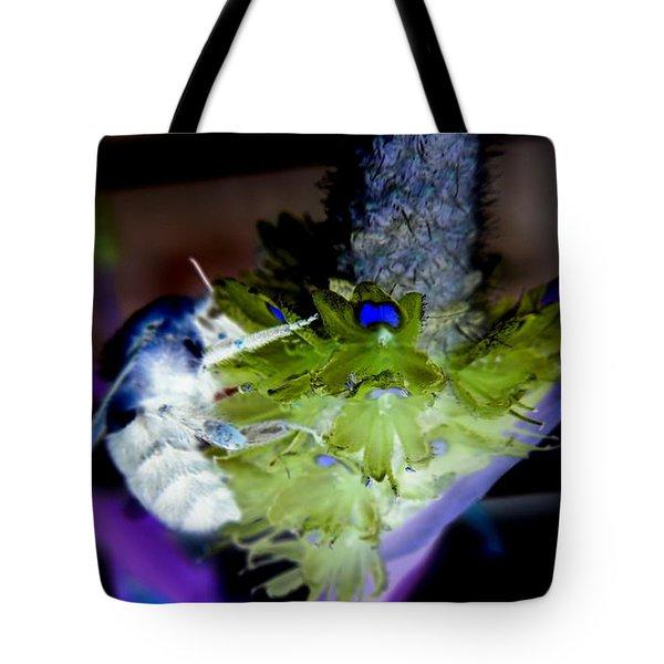 Don't Bee Blue Tote Bag by Renee Trenholm