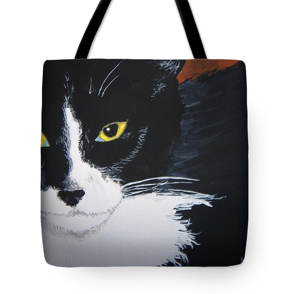 Tote Bag featuring the painting Don't Bug Me by Norm Starks