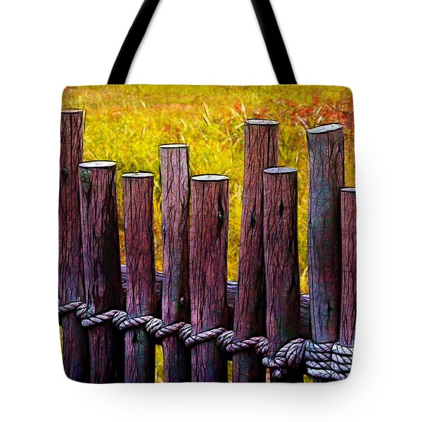 Don't Fence Me In Tote Bag by Judi Bagwell