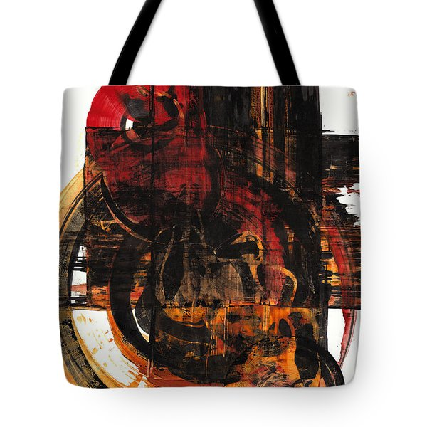 Tote Bag featuring the painting Don't Worry Be Happy  120.122210 by Kris Haas