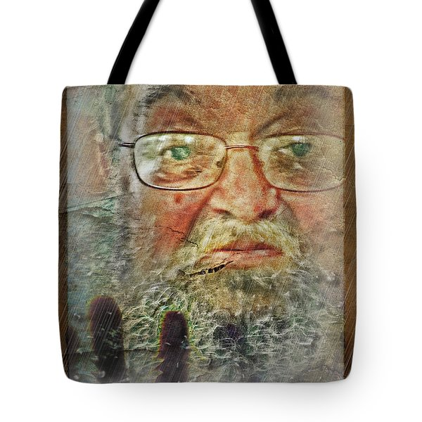 Tote Bag featuring the digital art Don't You See Me?  I'm Here. .  by Rhonda Strickland