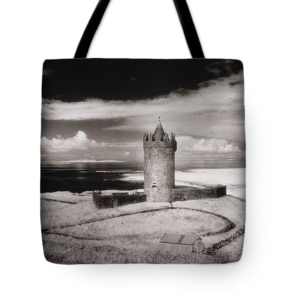 Doonagore Tower Tote Bag by Simon Marsden