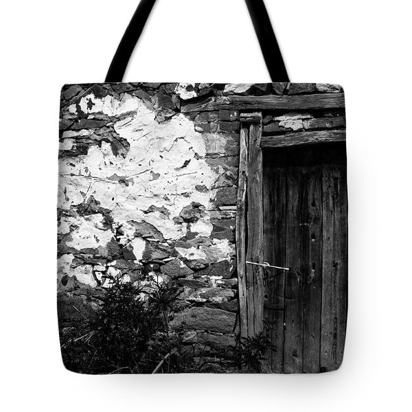 Door  Window And The Wall  Tote Bag