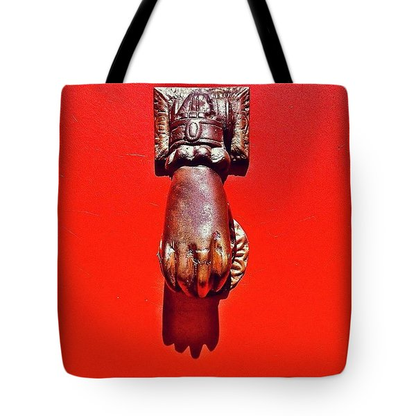 Doorknocker Tote Bag