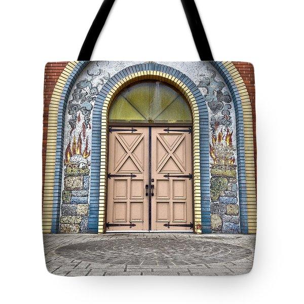 Doors Of Faith  Tote Bag by Jerry Cordeiro