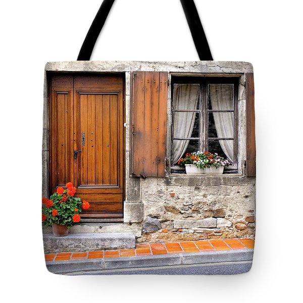 Tote Bag featuring the photograph Doorway And Window In Provence France by Dave Mills