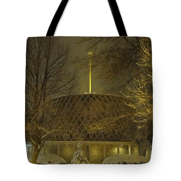 Tote Bag featuring the photograph Dorcas Chapel by Tiffany Erdman