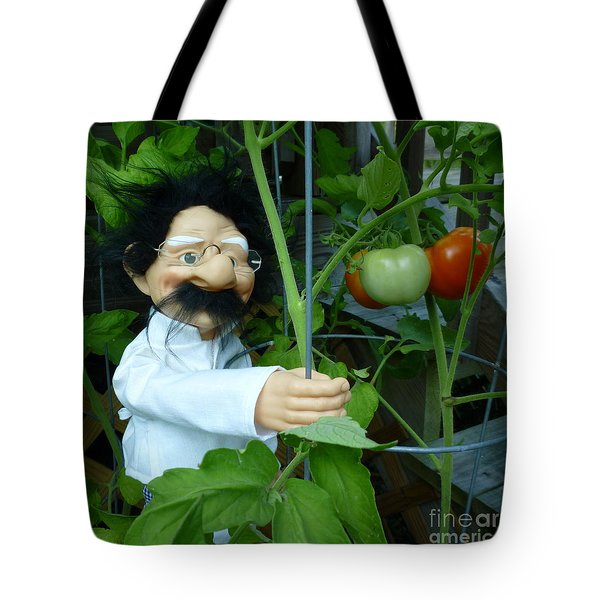 Tote Bag featuring the photograph Dorf Chef Doll With Tomatoes by Renee Trenholm