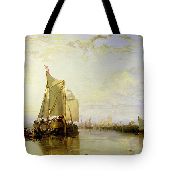 Dort Or Dordrecht - The Dort Packet-boat From Rotterdam Becalmed Tote Bag by Joseph Mallord William Turner
