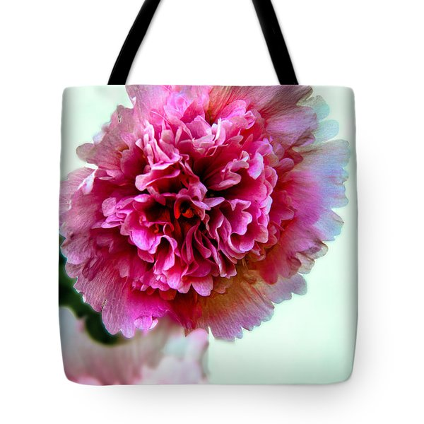 Double Hollyhock Tote Bag