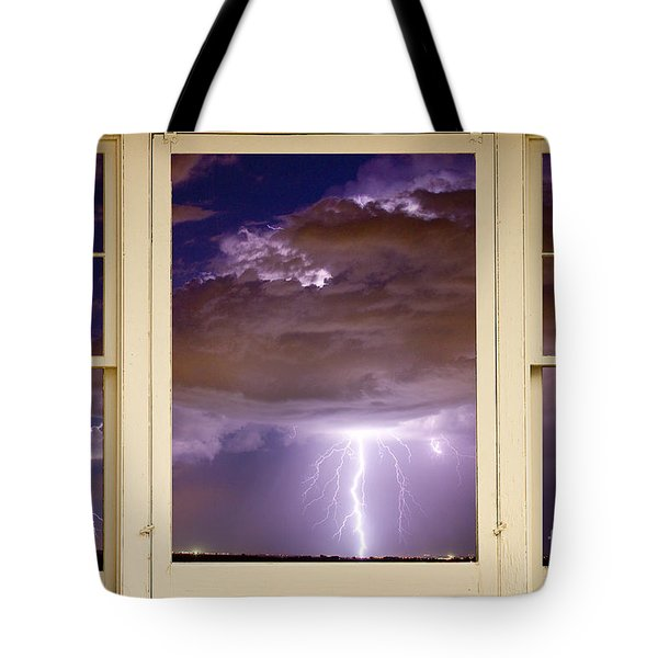 Double Lightning Strike Picture Window Tote Bag by James BO  Insogna