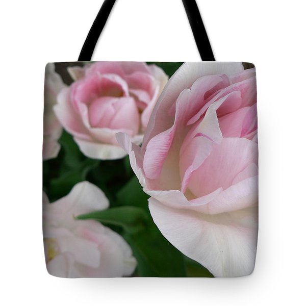 Tote Bag featuring the photograph Double Pink by Laurel Best