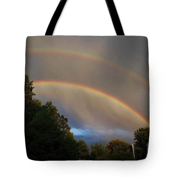 Double Rainbow Tote Bag by Science Source