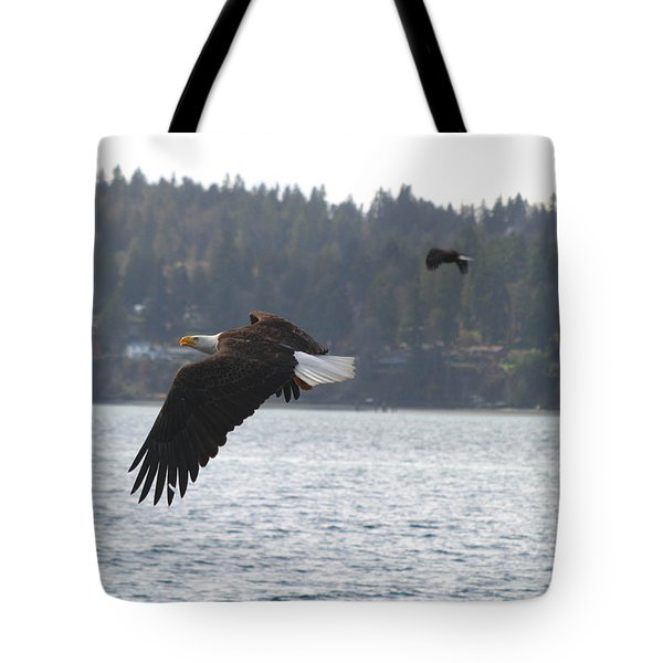 Double Trouble Eagles Tote Bag by Kym Backland