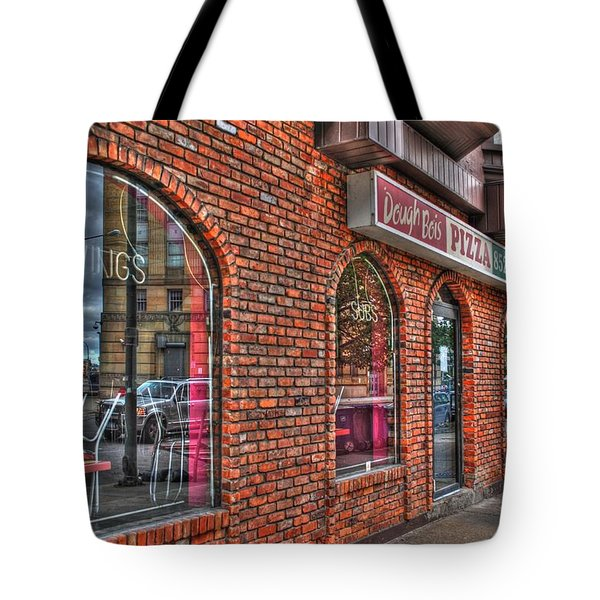 Tote Bag featuring the photograph Dough Bois Pizza by Michael Frank Jr