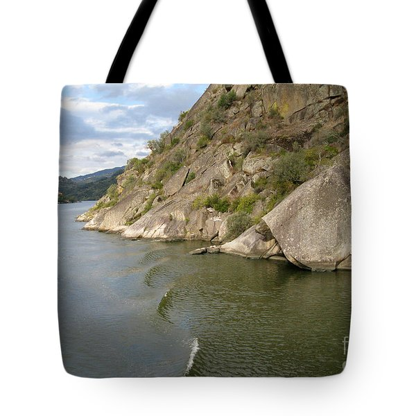 Douro Rock Formation Tote Bag by Arlene Carmel