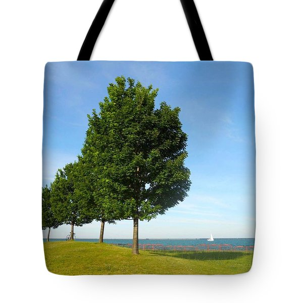 Down By The Lake Tote Bag by Sarah Vandenbusch