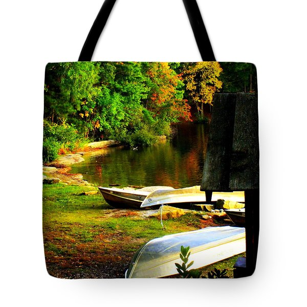 Down By The Riverside Tote Bag by Karen Wiles