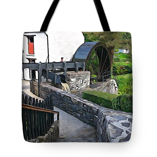 Tote Bag featuring the photograph Down To The Mill by Charlie and Norma Brock