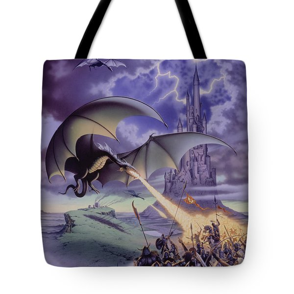 Dragon Combat Tote Bag by The Dragon Chronicles - Steve Re