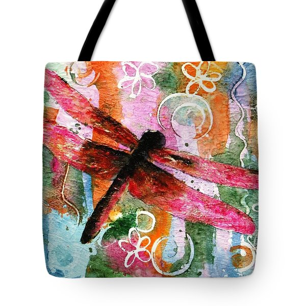 Dragonfly Fairy I Tote Bag by Miriam Schulman