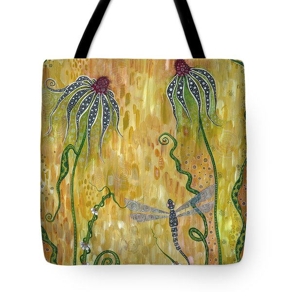 Dragonfly Safari Tote Bag by Tanielle Childers