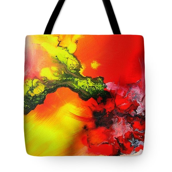 Tote Bag featuring the painting Dragon's Fire by Mary Kay Holladay