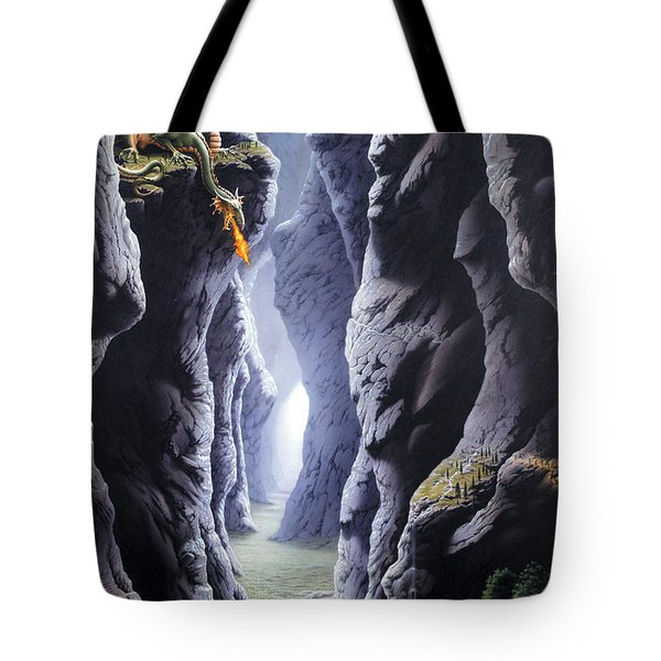 Dragons Pass Tote Bag by The Dragon Chronicles - Steve Re