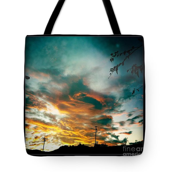 Tote Bag featuring the photograph Drama In The Sky by Nina Prommer