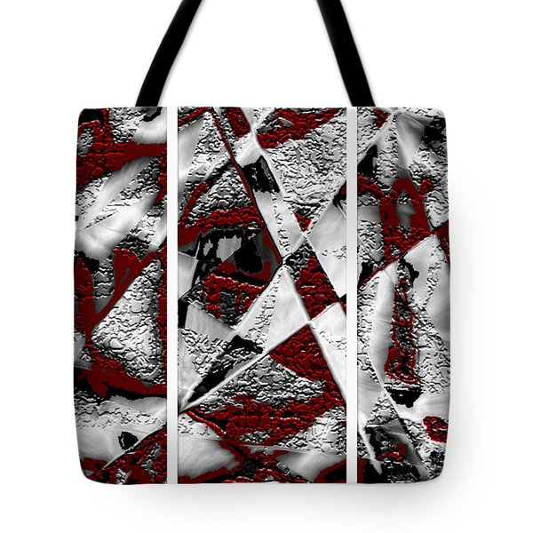 Dramatique Red Triptych Tote Bag