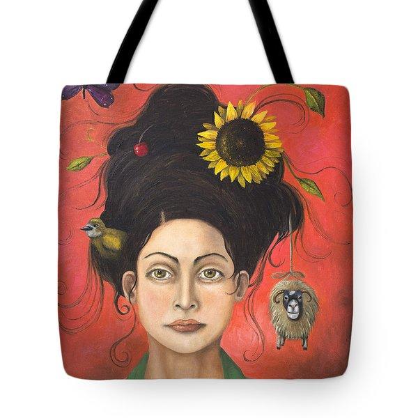 Dream Hair 2 Tote Bag by Leah Saulnier The Painting Maniac