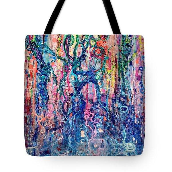 Dream Of Our Souls Awake Tote Bag