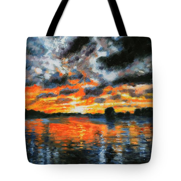 Dreaming Of A Tropical Paradise Detail B Tote Bag by John Lautermilch