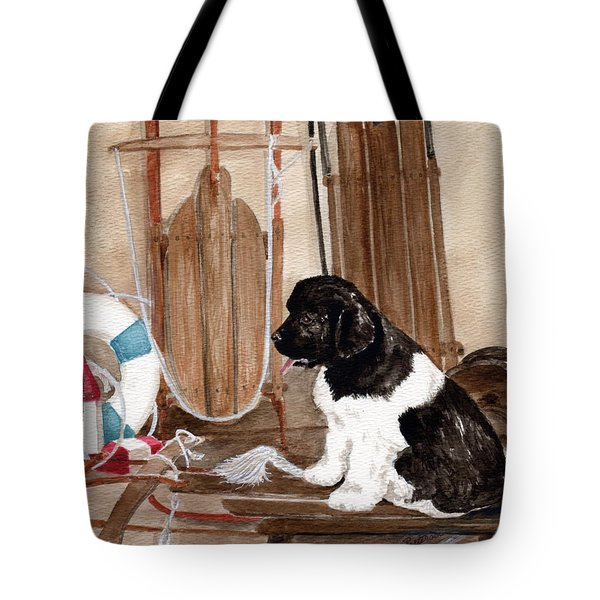 Tote Bag featuring the painting Dreaming Of Winter  by Nancy Patterson