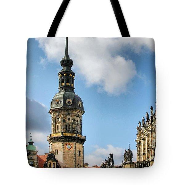 Dresden Hausmannsturm - Housemann Tower Tote Bag by Christine Till