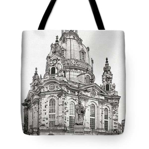 Dresden's Church Of Our Lady - Reminder Of Peace Tote Bag by Christine Till