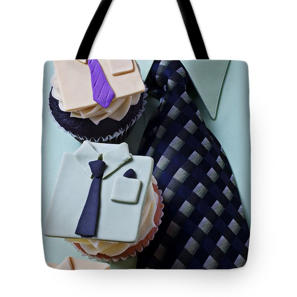 Dress Shirt Cupcakes Tote Bag by Garry Gay