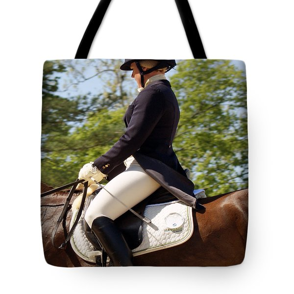 Dressed And Riding Tote Bag by Roger Potts