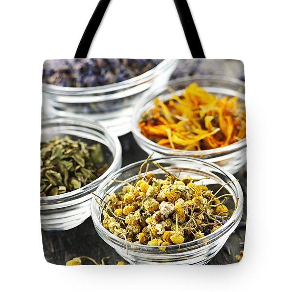 Dried Medicinal Herbs Tote Bag by Elena Elisseeva