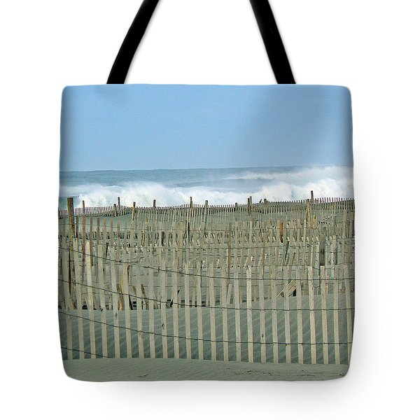 Drift Fence Tote Bag by Pamela Patch