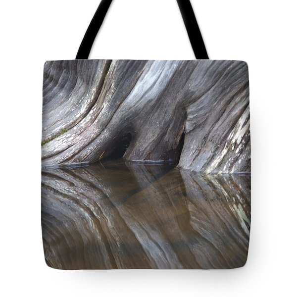 Drift Wood Is Reflected On The Surface Tote Bag