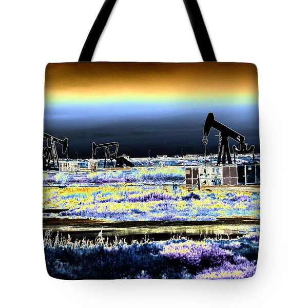 Drilling For Black Gold Tote Bag by Diana Haronis