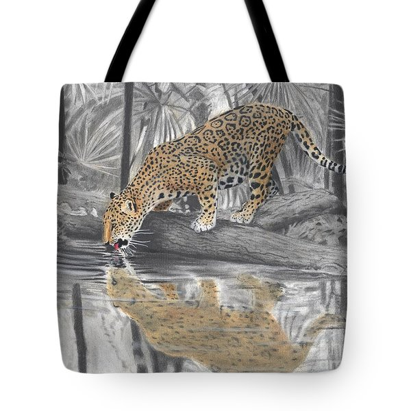 Drinking Jaguar Tote Bag