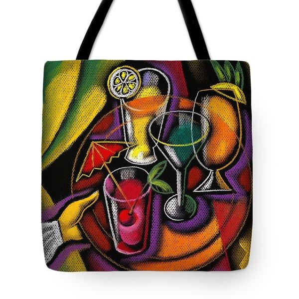 Drinks Tote Bag by Leon Zernitsky